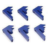 Monster Racking T-rax Steck-verbindungsstücke - Blau (6er Pack)