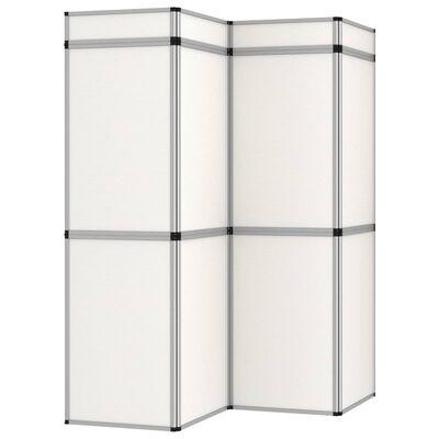 vidaXL 12-Panel Messewand Faltdisplay 242×200 cm Weiß, Weiß