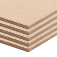 vidaXL MDF-Platten 8 Stück Quadratisch 60x60 cm 12 mm
