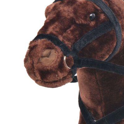 vidaXL Plüschtier Stehend Pferd Dunkelbraun XXL