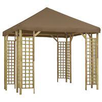 vidaXL Pavillon 3 x 3 m Taupe