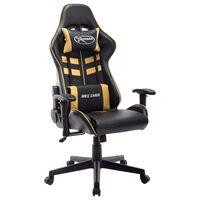 vidaXL Gaming-Stuhl Schwarz und Golden Kunstleder