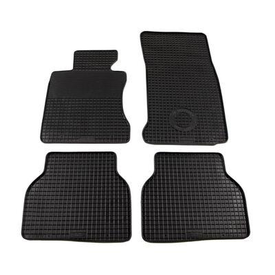 vidaXL Gummi-Fußmatten-Set 4-tlg. für BMW 5er-Reihe (E60),