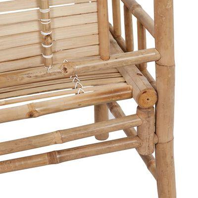 vidaXL Gartenbank mit Auflage 120 cm Bambus