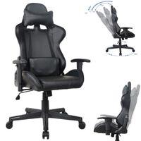 Bürostuhl Racing Gaming Stuhl Style High Design Thomas schwarz blau