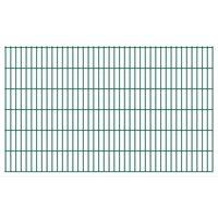 vidaXL 2D Gartenzaun-Elemente 2,008x1,23 m Gesamtlänge 12 m Grün