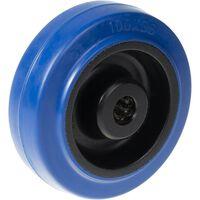 """100 Mm 4 """"rad Blauer Gummi Mit Nylon-mittelstärke Von 150 Kg"""