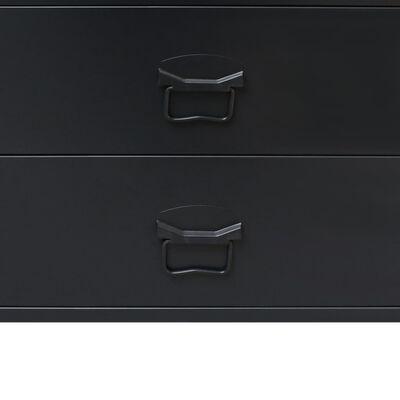 vidaXL Schubladenschrank Metall Industrie-Stil 78 x 40 x 93 cm Schwarz,