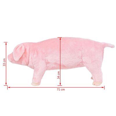 vidaXL Plüschtier Stehend Schwein Rosa XXL