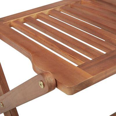 vidaXL Klappbare Gartenstühle 6 Stk. mit Kissen Massivholz Akazie