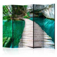 5-teiliges Paravent - Emerald Lake II  - 225x172 cm