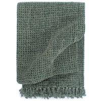 vidaXL Überwurf Baumwolle 125x150 cm Dunkelgrün