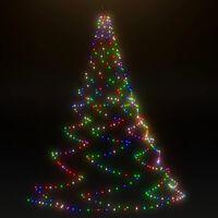 vidaXL LED-Wandbaum Metallhaken 720 LED Mehrfarbig 5 m Indoor Outdoor