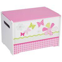 Worlds Apart Spielzeugkiste Patchwork 60x39x39 cm Pink WORL230004