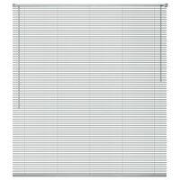 vidaXL Fensterjalousien Aluminium 60x130 cm Silber