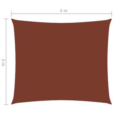 vidaXL Sonnensegel Oxford-Gewebe Rechteckig 3x4 m Terrakottarot