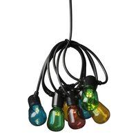 KONSTSMIDE Party-Lichterkette mit 40 Klaren Ovalen Lampen Mehrfarbig