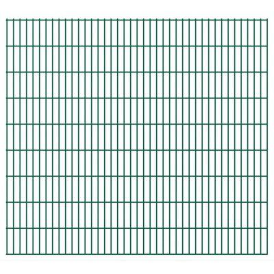 vidaXL 2D Gartenzaun-Elemente 2,008x1,83 m Gesamtlänge 46 m Grün