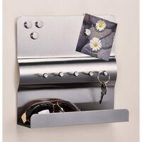 HI Schlüsselboard mit Memoboard Silbern 25x24x6,5 cm