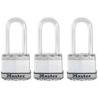 Master Lock Vorhängeschloss Excell 3er-Pack Stahl 45 mm M1EURTRILH