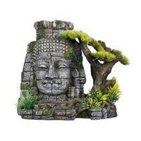 Aqua d'ella Aquarium-Dekoration Bayon-Tempel 23x14x21 cm Polyresin