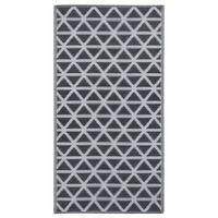 vidaXL Outdoor-Teppich Schwarz 80x150 cm PP
