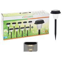 ProGarden LED Garten-Solarleuchten 9 Stk. Schwarz