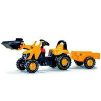 Rolly Toys 023 837 RollyKid JCB Traktor mit Loader und Trailer