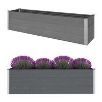 vidaXL Garten-Hochbeet Grau 200 x 50 x 54 cm WPC