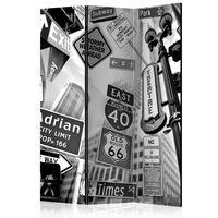 3-teiliges Paravent - Roads to Manhattan  - 135x172 cm