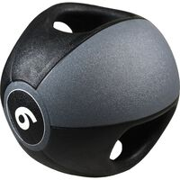 Pure2Improve Medizinball mit Griffen 6 kg Grau P2I202000