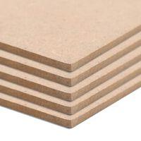 vidaXL MDF-Platten 10 Stück Rechteckig 120x60 cm 2,5 mm