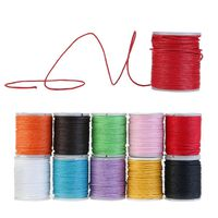 10 Rollen Gewachste Baumwollschnur Wachsband Baumwollkordel | 10m 1mm