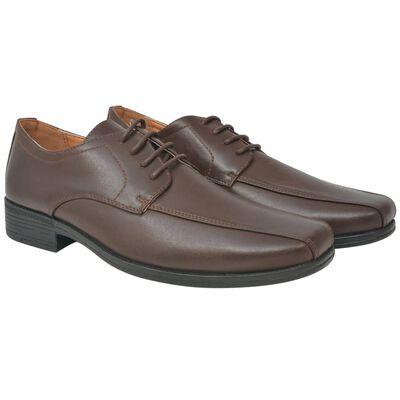 vidaXL Business-Schuhe Herren Schnürschuhe Braun Größe 44 PU-Leder