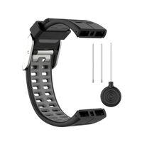 Polar V800 Armband Silikon Schwarz / Grau