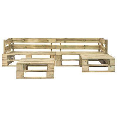 vidaXL 4-tlg. Garten-Sofagarnitur aus Paletten Holz