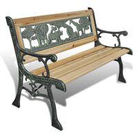 vidaXL Kinder-Gartenbank 84 cm Holz
