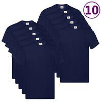 Fruit of the Loom Original T-Shirts 10 Stk. Marineblau L Baumwolle