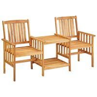 vidaXL Gartenstühle mit Teetisch 159 x 61 x 92 cm Massivholz Akazie