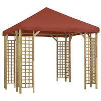 vidaXL Pavillon 3 x 3 m Terrakottarot
