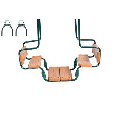 Swing King Doppelsitzschaukel Grün und Braun Winkelhaken 2521138,