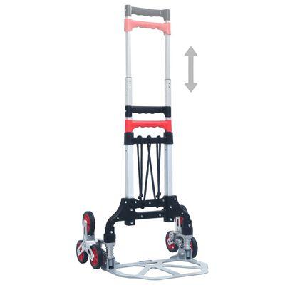 vidaXL Treppen-Transportwagen Klappbar 70 kg Aluminium Silbern
