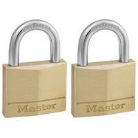 Master Lock Vorhängeschloss Massivmessing 2er-Pack 40 mm 140EURT