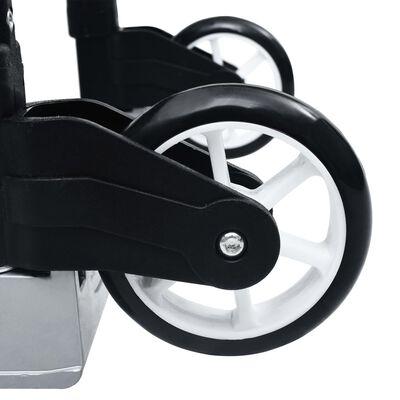 vidaXL Transportwagen Klappbar 70 kg Aluminium Silbern
