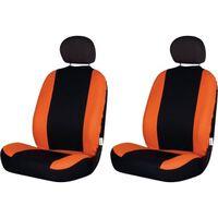 stoelhoezenset Road uni polyester zwart/oranje 4-delig
