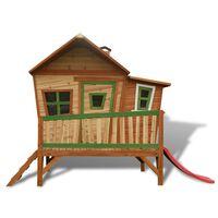 AXI Kinder-Holzspielhaus mit Rutsche Emma