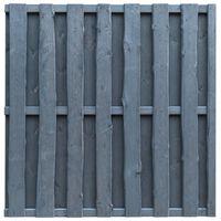 vidaXL Bohlenzaun-Paneel Hochwertiges Kiefernholz 180×180 cm Grau