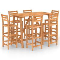vidaXL 7-tlg. Gartenbar-Set Massivholz Akazie