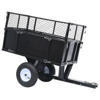 vidaXL Kippanhänger für Rasentraktor 150 kg Last