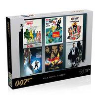 James Bond Puzzle - 1000 Teile - Schauspieler Debüt Plakate